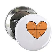 """Basketball Heart 2.25"""" Button"""