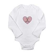 Hockey Heart Long Sleeve Infant Bodysuit
