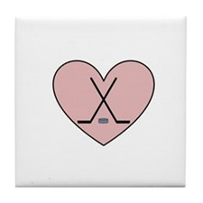 Hockey Heart Tile Coaster