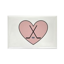 Hockey Heart Rectangle Magnet