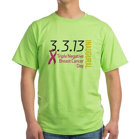 3.3.13 TNBC Day Logo Green T-Shirt