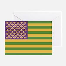 South Acadian Flag Greeting Card