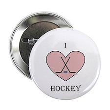 """I heart hockey 2.25"""" Button"""