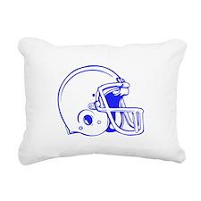 Blue Football Helmet Rectangular Canvas Pillow