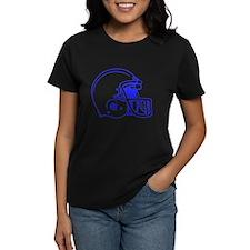 Blue Football Helmet Tee