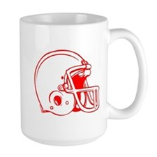 Red Football Helmet Mug
