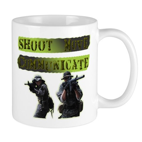 Shoot Move Communicate Mug
