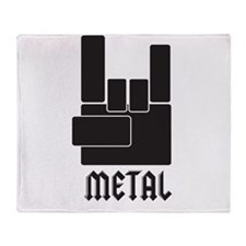 Metal Rocks! Throw Blanket