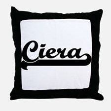 Black jersey: Ciera Throw Pillow