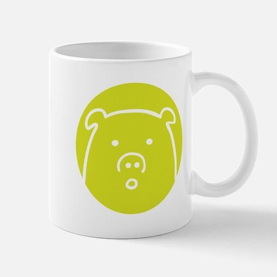 Cute Green Piggy Design Mug