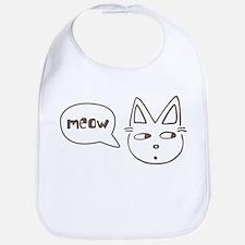 Cute Kitty Saying Meow Bib