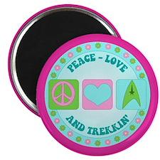 Peace Love Trekkin' Magnet