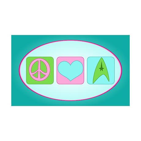 Peace Love Trekkin' 35x21 Wall Decal