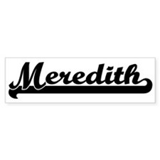 Black jersey: Meredith Bumper Bumper Sticker