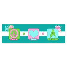 Peace Love Trekkin' Bumper Sticker