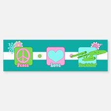 Peace Love NCC-1701 Bumper Bumper Sticker
