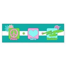 Peace Love NCC-1701 Bumper Sticker