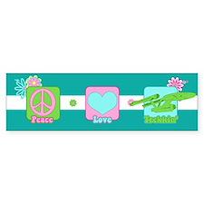 Peace Love NCC-1701 Car Sticker