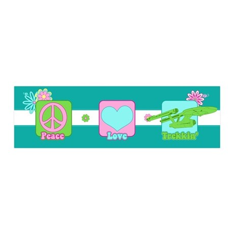 Peace Love NCC-1701 36x11 Wall Decal