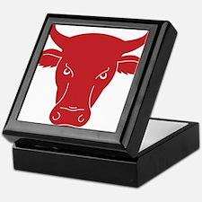 The head of a bull Keepsake Box