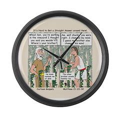 Vineyard Large Wall Clock