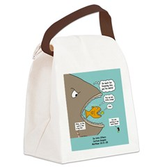Greedy Servant Parable Canvas Lunch Bag