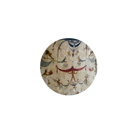 The Judgement - Assisi Italy Fresco Mini Button