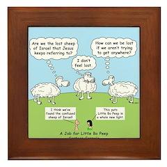 Lost Sheep of Israel Framed Tile