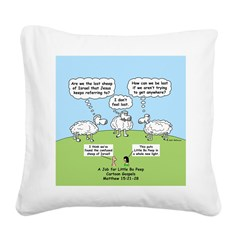 Lost Sheep of Israel Square Canvas Pillow