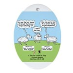 Lost Sheep of Israel Ornament (Oval)