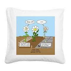 Flower Power Square Canvas Pillow