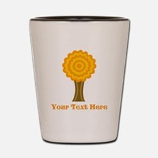 Tree in Fall with Custom Text. Shot Glass