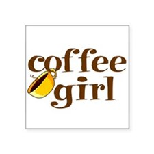 Coffee Girl Oval Sticker
