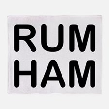 Rum Ham Throw Blanket