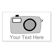 Gray Camera and Text. Decal