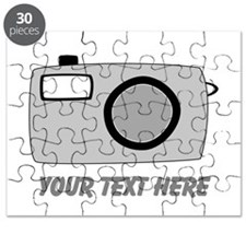 Gray Camera and Text. Puzzle