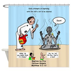 Baptism by Fire Shower Curtain