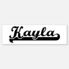 Black jersey: Kayla Bumper Bumper Bumper Sticker