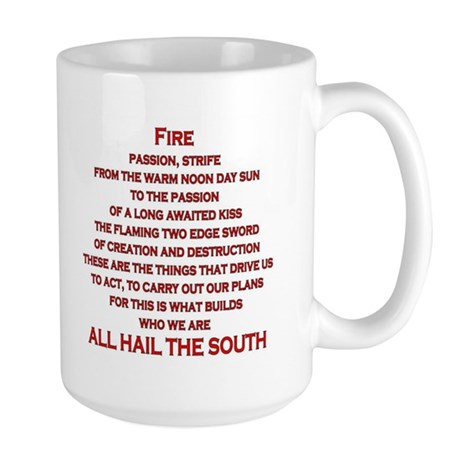 Fire Element Star Large Mug
