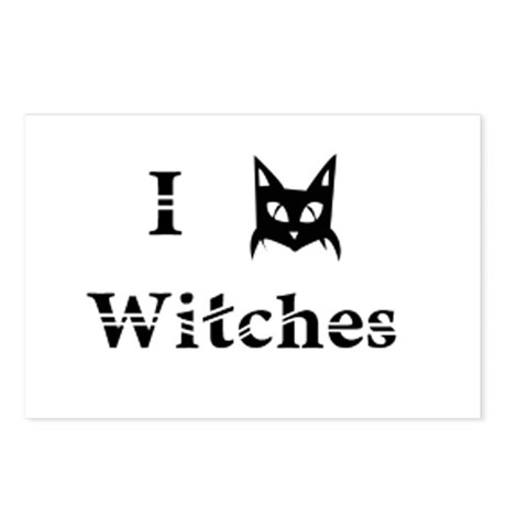 I Cat Witches Postcards (Package of 8)