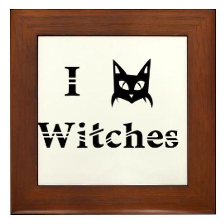 I Cat Witches Framed Tile