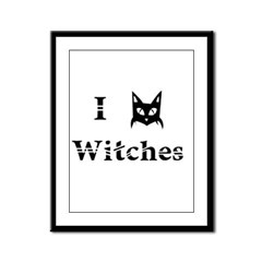 I Cat Witches Framed Panel Print
