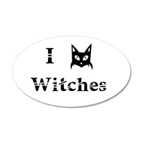 I Cat Witches 20x12 Oval Wall Decal