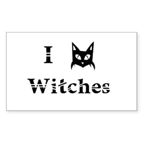 I Cat Witches Sticker (Rectangle)