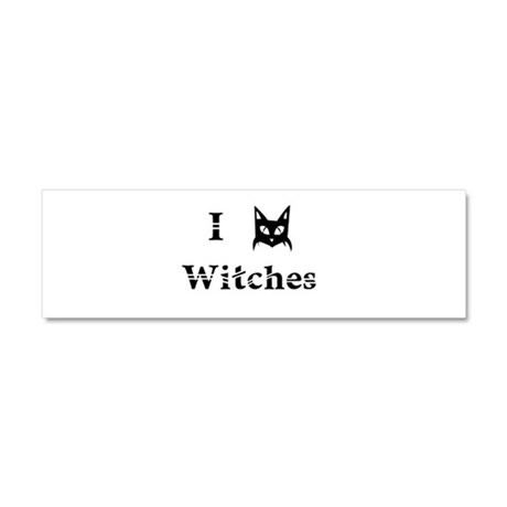 I Cat Witches Car Magnet 10 x 3