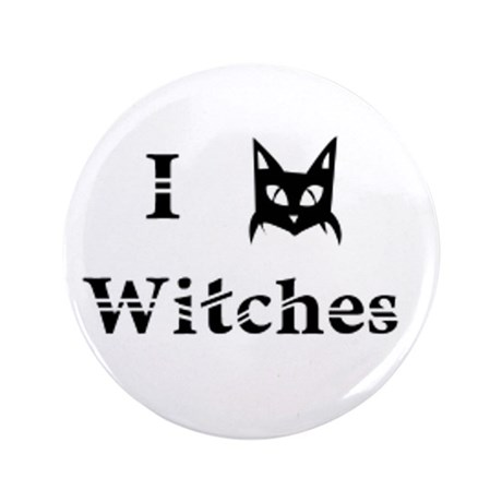 """I Cat Witches 3.5"""" Button"""