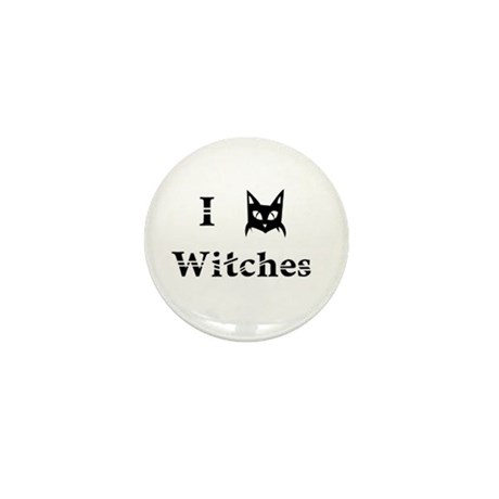 I Cat Witches Mini Button