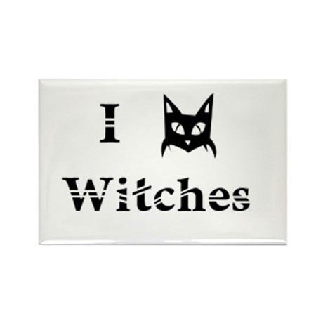 I Cat Witches Rectangle Magnet