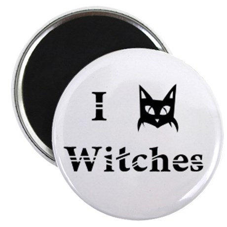 I Cat Witches Magnet