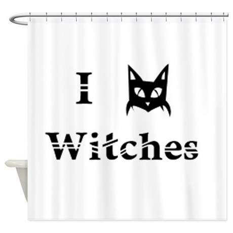 I Cat Witches Shower Curtain